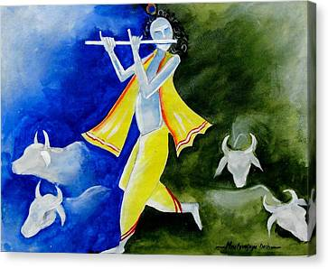 Krishna Magic Canvas Print