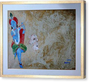 Krishna Canvas Print by Rooma Mehra