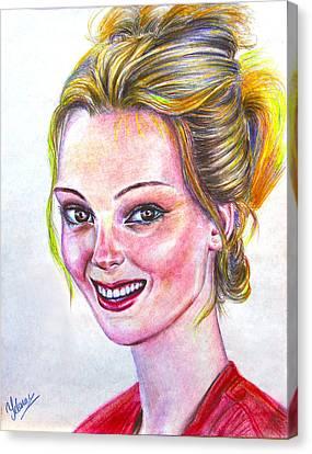 Kristen - American Canvas Print