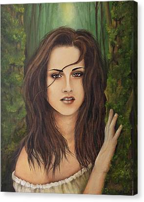 Kristen Stewart Canvas Print by Lena Day