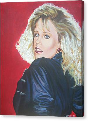 Canvas Print featuring the painting Kristi Sommers by Bryan Bustard