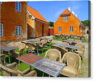 Canvas Print featuring the photograph Kronborg Castle Cafe by Michael Canning
