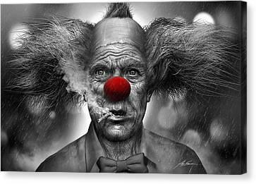 Krusty The Clown Canvas Print by Alex Ruiz