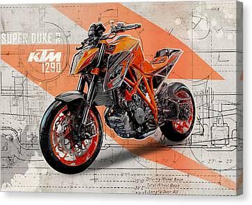 Poster Canvas Print - Ktm 1290 Super Duke R by Yurdaer Bes