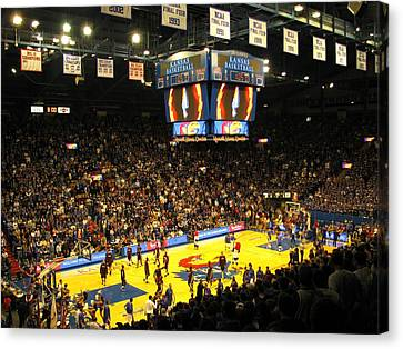 Ku Allen Fieldhouse Canvas Print by Keith Stokes