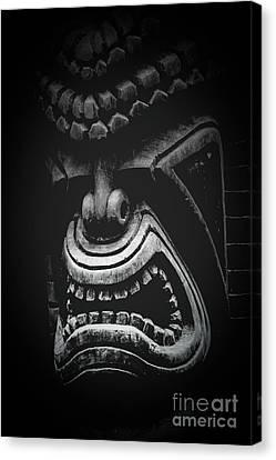 Ku Kii Tiki Hawaiian Culture Wood Carvings Demigods Canvas Print