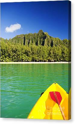 Kualoa Mountains From Kay Canvas Print by Dana Edmunds - Printscapes