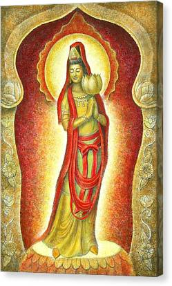 Kuan Yin Lotus Canvas Print