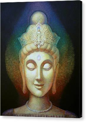 Kuan Yin's Light Canvas Print by Sue Halstenberg
