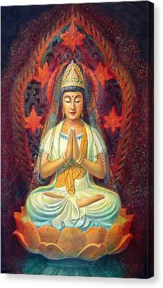 Kuan Yin's Prayer Canvas Print by Sue Halstenberg