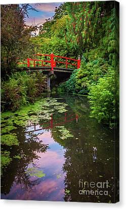 Kubota Gardens Bridge Number 1 Canvas Print by Inge Johnsson
