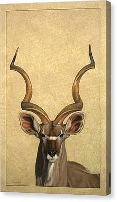 Kudu Canvas Print by James W Johnson