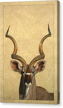 Kudu Canvas Print by James W Johnson