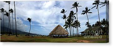 Kukulu Hale Kahului Maui Hawaii Panorama Canvas Print by Sharon Mau