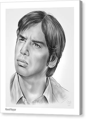 Kunal Nayyar Canvas Print by Greg Joens