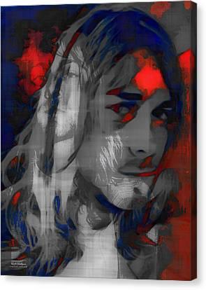 Kurt Cobain Double Exposure Canvas Print by Scott Wallace