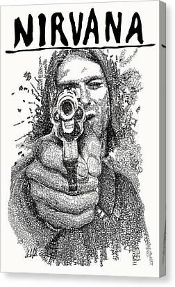 Kurt Cobain Canvas Print by Michael Volpicelli