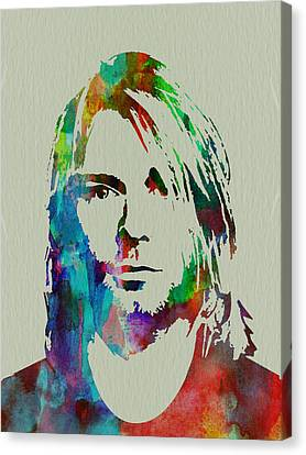 Kurt Cobain Nirvana Canvas Print by Naxart Studio