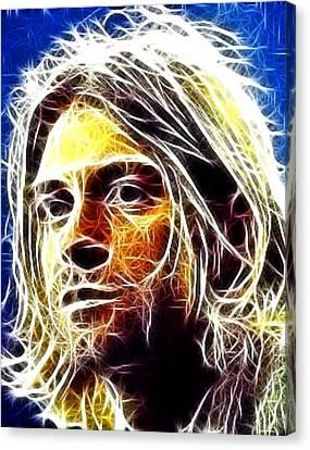 Kurt Cobain Canvas Print by Paul Van Scott