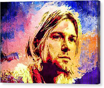 Kurt Cobain Canvas Print by Svelby Art
