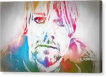 Kurt Cobain Watercolor Canvas Print by Dan Sproul