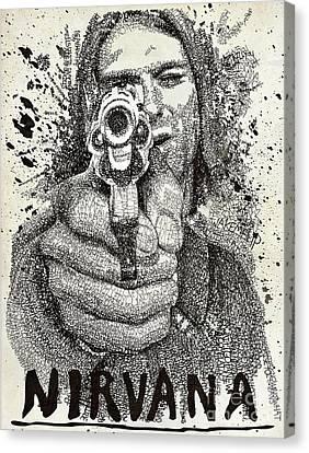 Kurt Poster Canvas Print by Michael Volpicelli