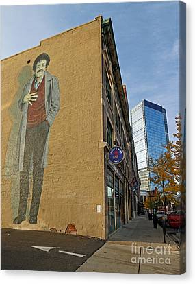 Kurt Vonnegut In Indy Canvas Print by Steve  Gass