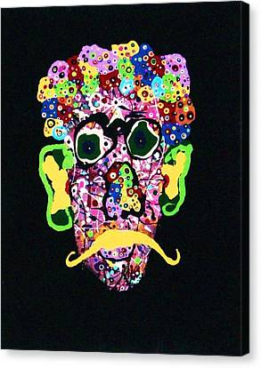 Kurt Vonnegut Jr. Canvas Print by Charlotte Nunn