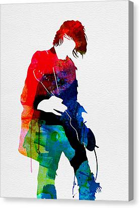 Kurt Watercolor Canvas Print by Naxart Studio