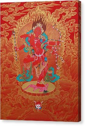 Tantra Canvas Print - Kurukulla by Binod Art School