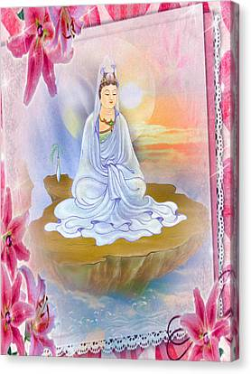 Kwan Yin - Goddess Of Compassion 1 Canvas Print
