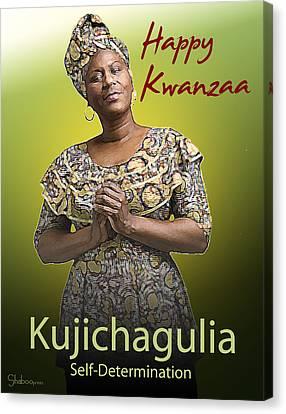 Kwanzaa Kujichagulia Canvas Print by Shaboo Prints