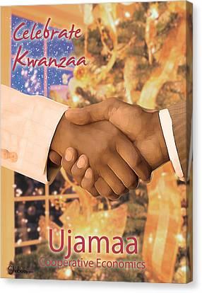 Kwanzaa Ujamaa Canvas Print
