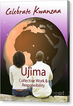 Kwanzaa Ujima Canvas Print by Shaboo Prints