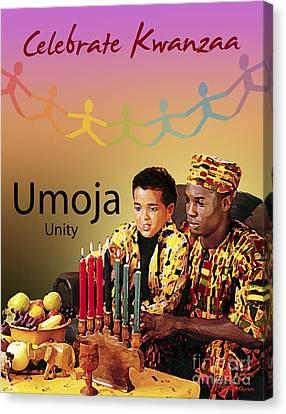 Kwanzaa Umoja Canvas Print