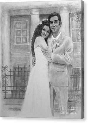 Kyle And Liliia Wedding Day Portrait Canvas Print