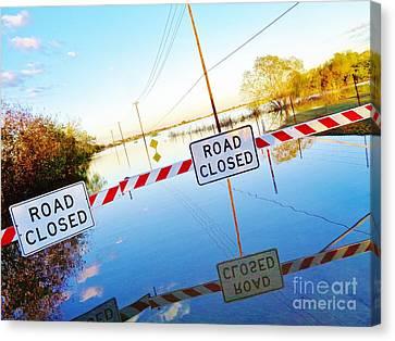 Kyle Texas Flooding October 30 2015 Canvas Print by Chuck Taylor