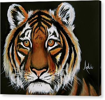 Kyle's Tiger Canvas Print by Adele Moscaritolo