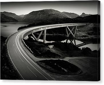 Kylesku Bridge Canvas Print by Dave Bowman