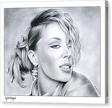 Kylie Minogue Canvas Print by Greg Joens