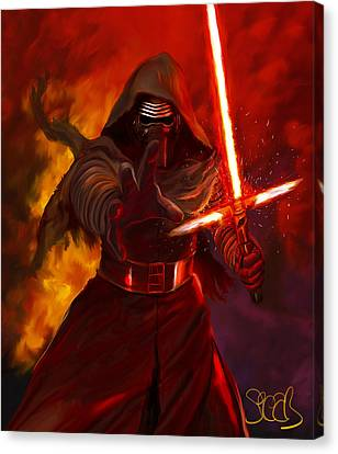 Kylo Ren Canvas Print by Mark Spears