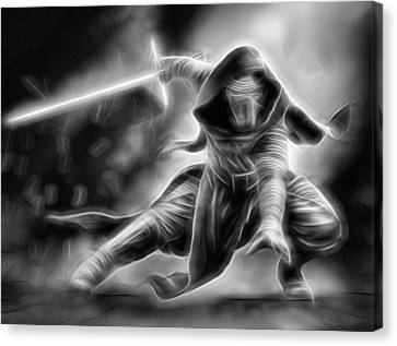 Kylo Ren Nothing Will Stand In Our Way Canvas Print by Scott Campbell