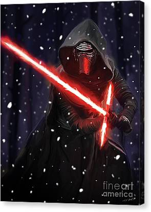 Kylo Ren Canvas Print by Paul Tagliamonte