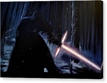 Kylo-ren Canvas Print by Ruben Barbosa