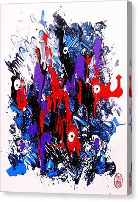 Kyodai Ika No Hokaku Canvas Print by Roberto Prusso