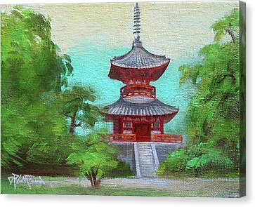Canvas Print featuring the painting Kyoto 1 by Dave Platford