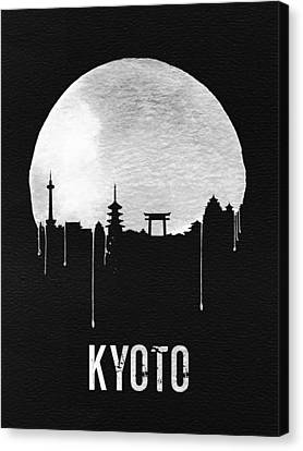 Kyoto Skyline Red Canvas Print by Naxart Studio