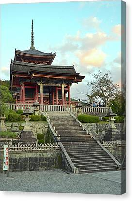 Canvas Print featuring the photograph Kyoto Temple by Corinne Rhode
