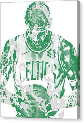 Free Canvas Print - Kyrie Irving Boston Celtics Pixel Art 5 by Joe Hamilton