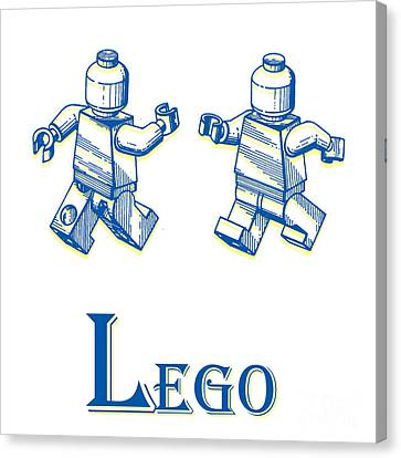 L Is For Lego Canvas Print